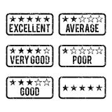 Review Rating Rubber Stamps Royalty Free Stock Photos