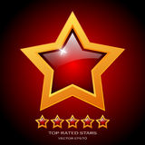 Review rating stars Stock Images