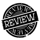 Review rubber stamp. Grunge design with dust scratches. Effects can be easily removed for a clean, crisp look. Color is easily changed Stock Photos