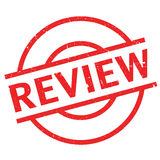 Review rubber stamp. Grunge design with dust scratches. Effects can be easily removed for a clean, crisp look. Color is easily changed Royalty Free Stock Photos