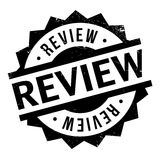 Review rubber stamp. Grunge design with dust scratches. Effects can be easily removed for a clean, crisp look. Color is easily changed Stock Image