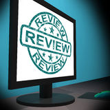 Review Screen Means Examine Reviewing Or Reassess Royalty Free Stock Photo