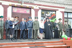 Review of soldiers of the Belarusian army may 1, 2015 on the eve of the may 9 victory day in World war 2. Stock Photo