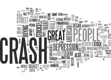 A Review Of The Stock Market Crash Of Word Cloud Royalty Free Stock Photo
