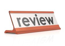 Review table tag Royalty Free Stock Image