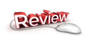 Review text, 3d Concept. On white royalty free illustration