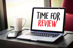 Review time Business Concept , time for review , Business team h Stock Image