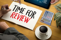 Review time Business Concept , time for review , Business team h Royalty Free Stock Photos