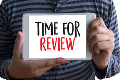 Review time Business Concept , time for review , Business team h Stock Images