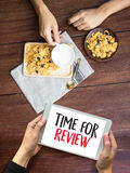 Review time Business Concept , time for review , Business team h Royalty Free Stock Photography