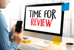 Review time Business Concept , time for review , Business team h Royalty Free Stock Image