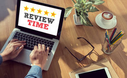 Review Time words Concept Stock Photo