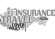 A Review On Travel Insurance Do You Need It Or Not Word Cloud Royalty Free Stock Photography