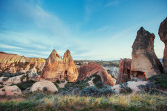 Review unique geological formations in Cappadocia, Turkey. Kappa Royalty Free Stock Image