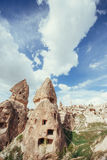 Review unique geological formations in Cappadocia, Turkey. Kappa Stock Photo
