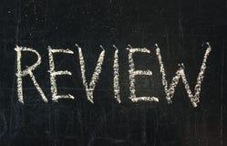 Review uttrycker royaltyfri foto