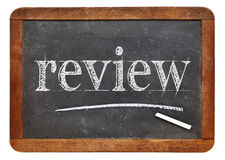 Review word on blackboard Royalty Free Stock Image