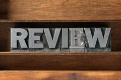 Review word tray Stock Photos