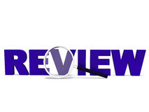 Review Word Shows Reviewing Evaluating Stock Image