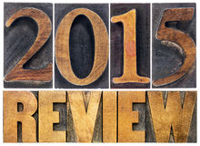 Review of 2015 year typography Royalty Free Stock Photography