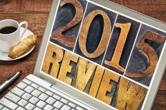 Review of 2015 year typography Royalty Free Stock Image