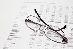 Reviewing accounts. Picture of a business concept portraying accounting finance auditing and financial consultation Stock Image