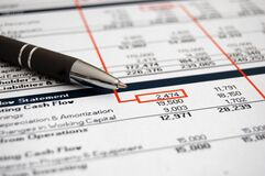 Free Reviewing Annual Financial Budget Statement Royalty Free Stock Images - 174160019
