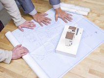 Reviewing the blueprint Stock Images