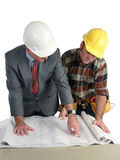 Reviewing Blueprints stock photo