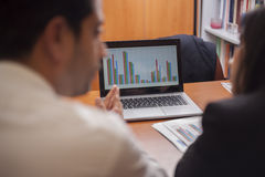 Reviewing the results Stock Images