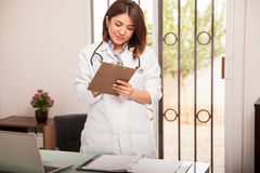 Reviewing some medical records Royalty Free Stock Photo