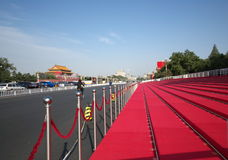 Reviewing stand in Beijing for 60th National Day royalty free stock photo