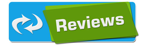 Reviews Green Blue Rotated Square Royalty Free Stock Photography
