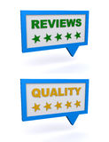 Reviews and quality Stock Photo