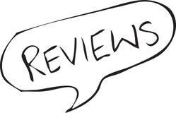Reviews Speech Bubble Sketch royalty free illustration