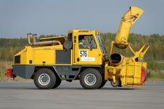 Revisão anual do equipamento do aeroporto em Pulkovo, St Petersburg, Rússia Imagem de Stock Royalty Free