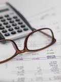 Revisão financeira Foto de Stock Royalty Free