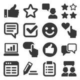 Revisões do cliente e grupo do ícone do feedback Vetor Foto de Stock Royalty Free