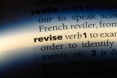 revise photographie stock