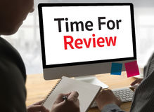 revise el concepto del negocio del tiempo, hora para el comentario, té del negocio fotos de archivo libres de regalías