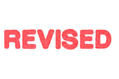 REVISE! red Rubber Stamp on white background. Royalty Free Stock Photo
