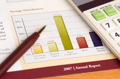 Revisión anual de la planificación financiera fotografía de archivo libre de regalías