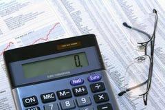 Revisión del precio de las acciones Foto de archivo