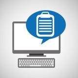 Revisión médica médica en línea Fotos de archivo libres de regalías