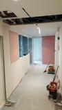 Revisión, reparación y acabamiento de la oficina de negocios Foto de archivo