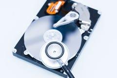 Revisión médica del disco duro Imagen de archivo
