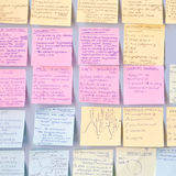Revision notes Royalty Free Stock Photo