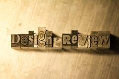 Revisione disegno - segno del testo dello scritto tipografico Fotografia Stock