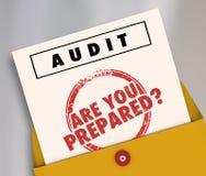 Revisionskuvertet är dig som är förberedd stock illustrationer