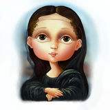 Revisiting of mona lisa Royalty Free Stock Images